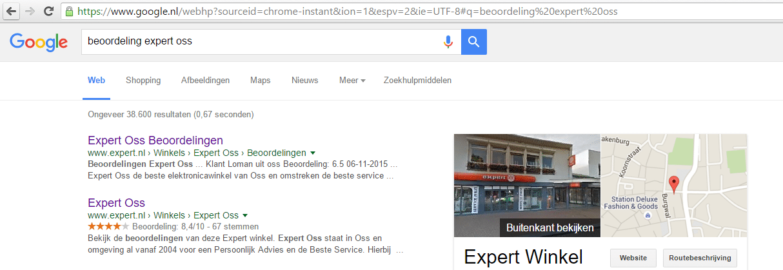 expert google beoordeling